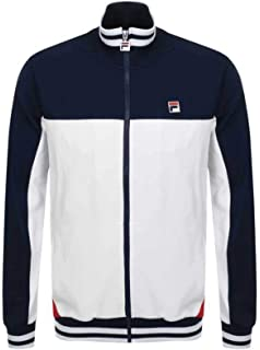 Fila Mens Tiebreaker Funnel Neck Track Jacket, Blue at ...