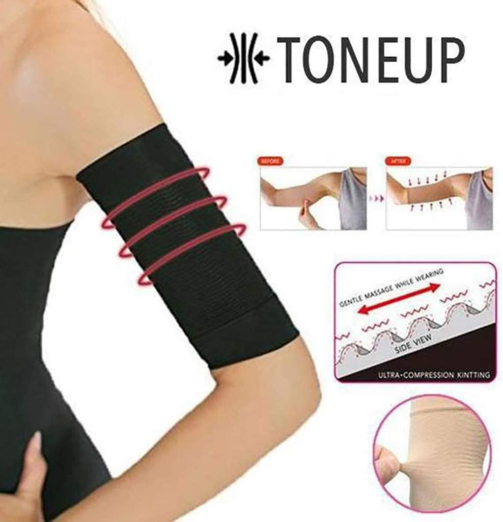 XGao Arm Shaping Sleeves,Arm Compression Slimming,Shaping Cellulite Slimmer,Sport Sleeves,Compression Toner,Shape Wrap Sleeves Upper Arms Sleeve for Women Fat Burning Driving Jogging Riding