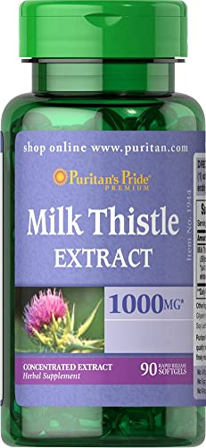 Puritans Pride Milk Thistle 4 1 Extract 1000 Mg silymarin , 90 Count