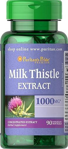 Puritans Pride Milk Thistle 4 1 Extract 1000 Mg'silymarin