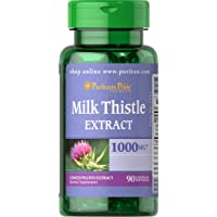 Puritans Pride Milk Thistle 4:1 Extract 1000 Mg (silymarin), 90 Count