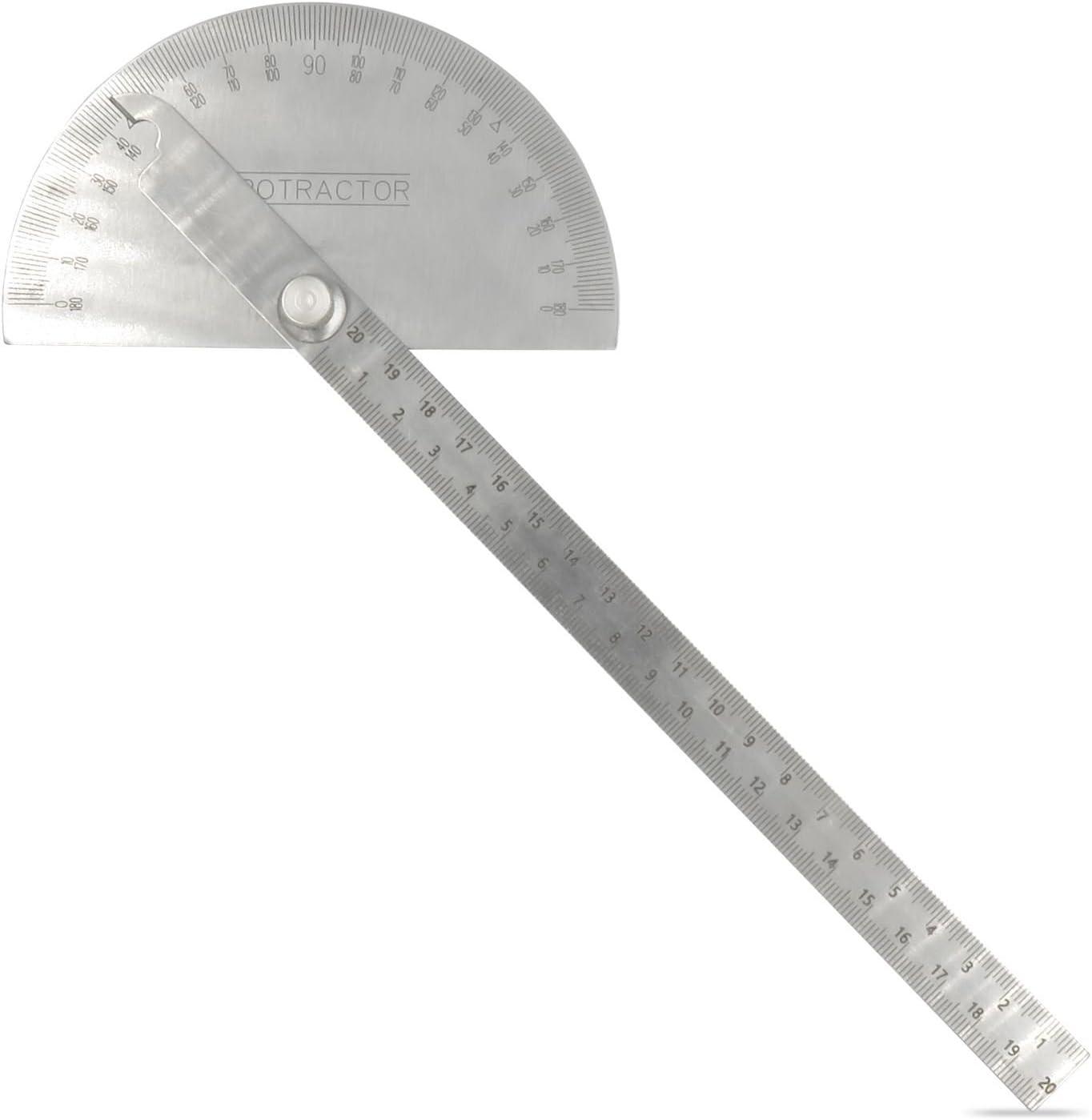 Rapporteur Angle Finder 0-180 ° tête ronde avec 100 mm Bras outil de mesure