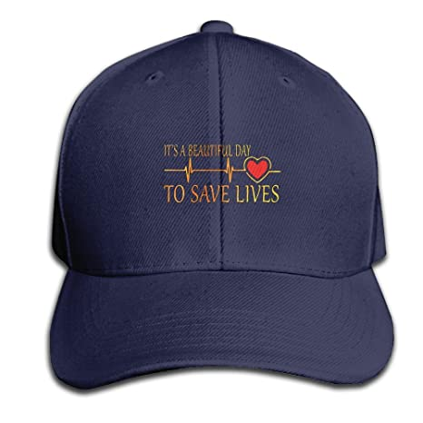 969b6838 Amazon.com : Its A Beautiful Day To Save Live Heartbeat Adjustable Baseball  Caps Unstructured Dad Hat 100% Cotton Ash : Sports & Outdoors