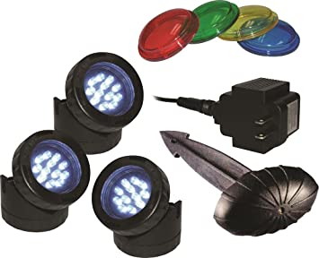 amazon com alpine led light with photocell and transformer 3 pack