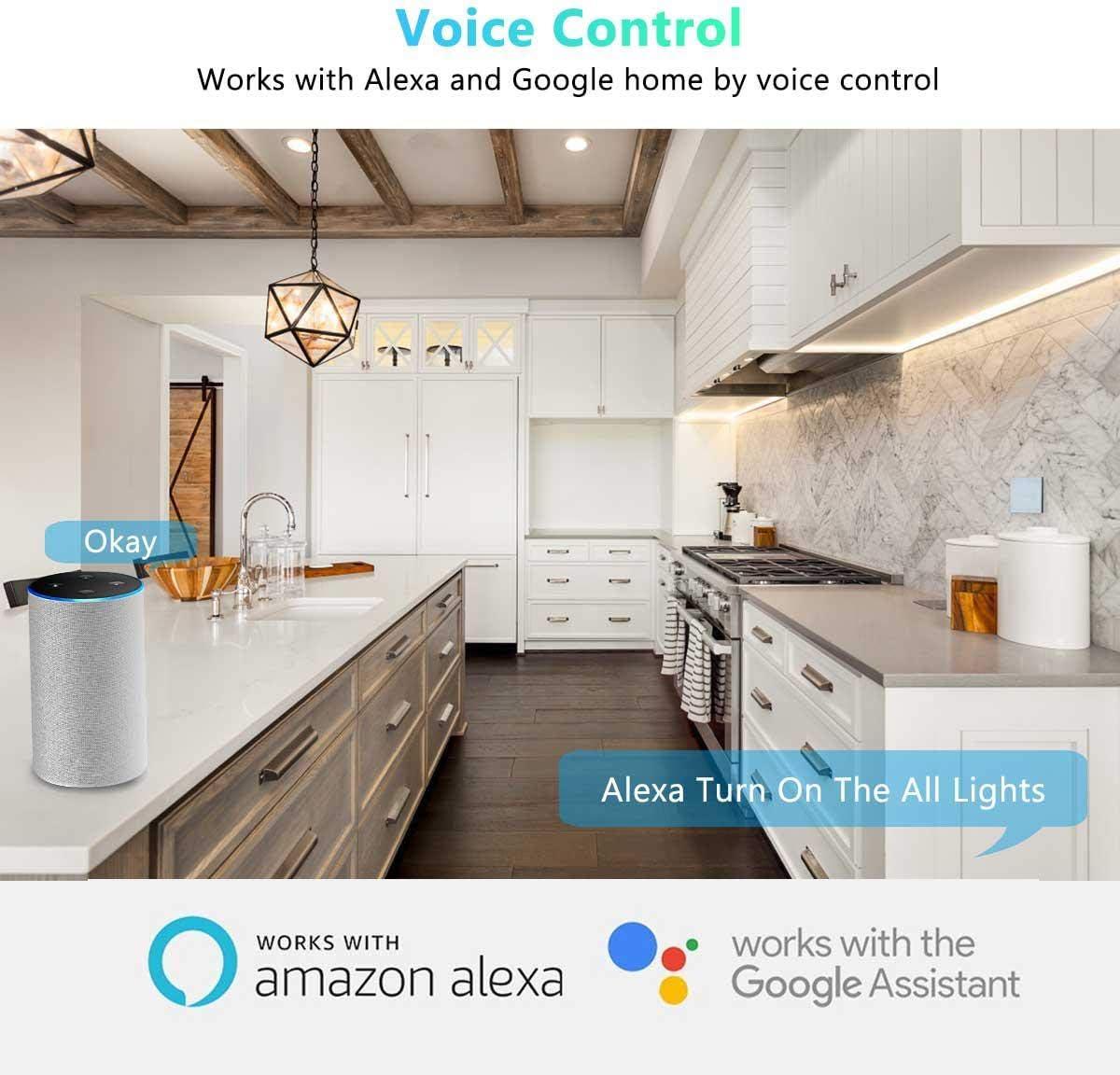 WiFi Smart Switch,Control Remoto inalámbrico Módulo de Interruptor inteligente con Timers Compatible con Alexa Echo Google Home IFTTT Google Nest,teléfono APP para iOS Android: Amazon.es: Hogar