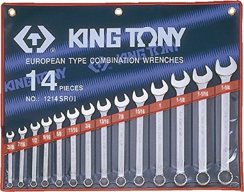 KING T. 1214SR01-Astuccio con chiavi combinate, in pollici, confezione da 14) KING TONY