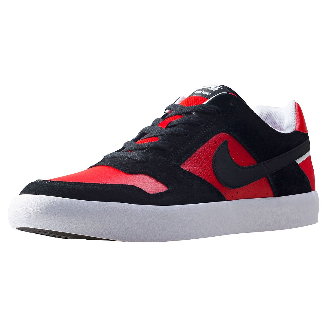 NIKE Men's SB Delta Force Vulc Skate Shoe 9 D(M) US|Black Black University Red Wht
