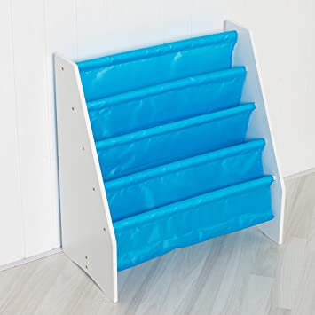 Children S Sling Storage Bookcase In Blue