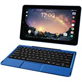 "2018 Premium High Performance RCA Galileo Pro 11.5"" Touchscreen Tablet Computer with Detachable Keyboard, Intel Quad-Core Processor 1GB Memory 32GB SSD Webcam WIFI Bluetooth Android 6.0, Blue"
