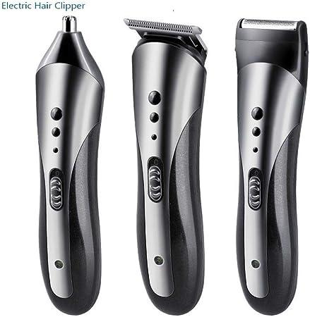 HAOSHUAI Los Hombres de Electricidad cortadora de Cabello Profesional barbero Recargable cortadora de Cabello Masculino Barbero Barbero Máquina: Amazon.es: Hogar