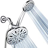AquaDance 7' Premium High Pressure 3-way Rainfall Shower Combo Combines the Best of Both Worlds - Enjoy Luxurious Rain Showerhead and 6-setting Hand Held Shower Separately or Together!-3327