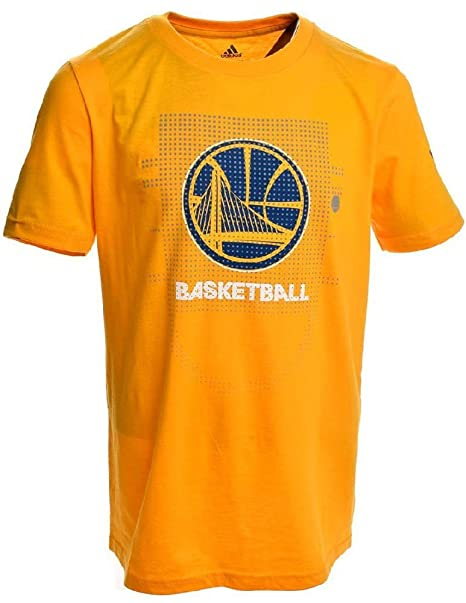 39950ac18083 Golden State Warriors Gold Adidas Key To Victory Mens Short Sleeve T Shirt  (Small)