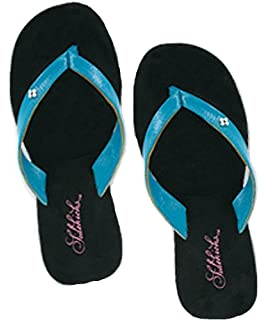 b22947e1ca8a13 Sidekicks Foldable Flip Flop Sandals - with Carrying Pouch - Turquoise -  X-Large