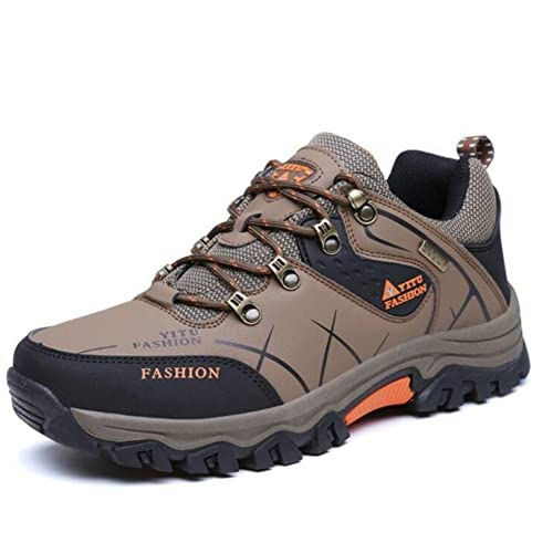 46ab085d81a Fashiontown Mens Hiking Shoes High-top Low-Cut Work Boots Wide Insulated  Outdoor Casual Shoes