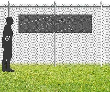 12x3 Basic Black Wind-Resistant Outdoor Mesh Vinyl Banner Clearance CGSignLab