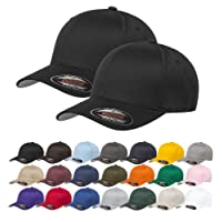 RBMelchi Set of 2, Baceball Cap Sports Athletic Fitted Hat