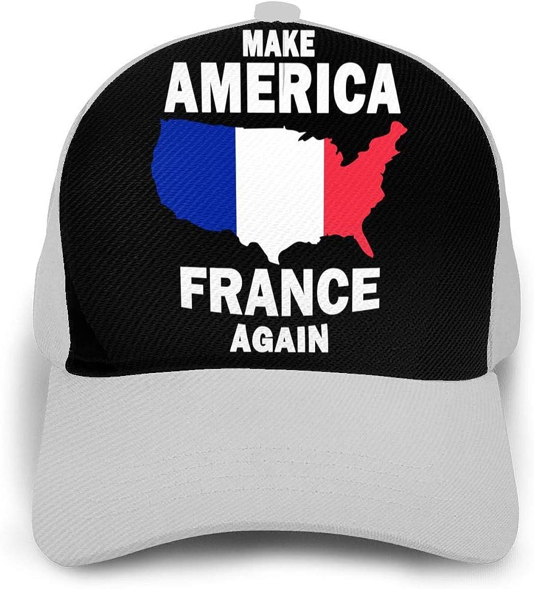 Y94OIW@MAO Make America France Again Trucker Hat for Unisex Cotton Sports Cap