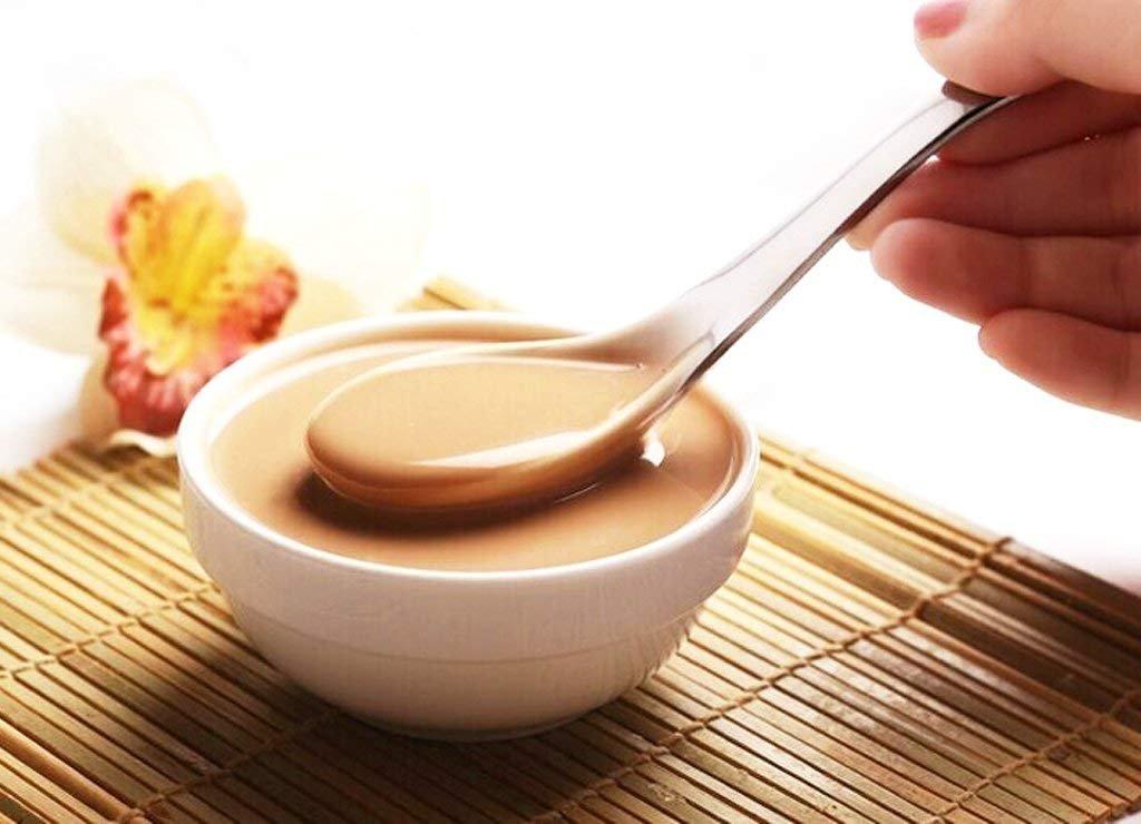 /Sp/ülmaschinenfest gesunde und schwere Gewicht/ comiart Edelstahl Suppe L/öffel Set 6 asiatische Japanische Chinesischer Essl/öffel mit tiefer Schale