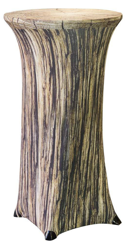 Baumstamm H/öhe 120cm Elegante Stretchhusse als Tisch-/Überzug Trendyshop365 Stretch Stehtischhusse f/ür Bistrotisch /Ø 60-70cm