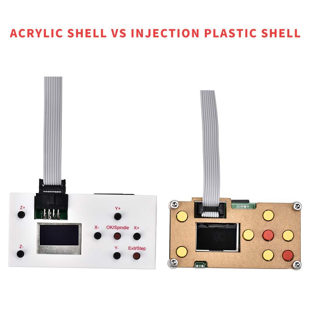 GRBL Steuerung DIY Mini CNC Maschine 3 Achsen Kunststoff Acryl PCB PVC Holz Router Kit mit Offline Controller PCB Fl/äche 300x180x45mm Vogvigo 2-in-1 CNC 3018 Pro-M Fr/äsmaschine mit 7000mW Laser