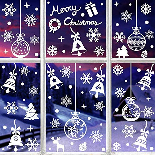 HIQE-FL Decoracion Navidad Escaparates,Navidad Decoración Ventana,Adornos Navideños,Navidad Pegatinas Ventana,Pegatinas de Navidad para Ventanas,Ventana de Navidad (A)