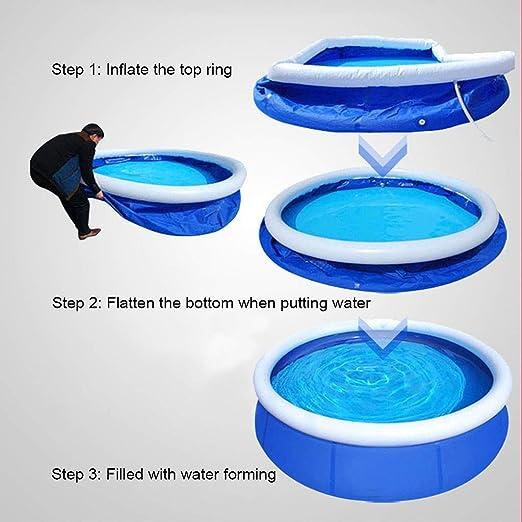 DFKDGL Piscina Redonda Inflable Familiar para Nadar y remar con Bomba de Filtro y Escalera - 457x122cm Ideal para Todos los niños, niños y Adultos: Amazon.es: Deportes y aire libre