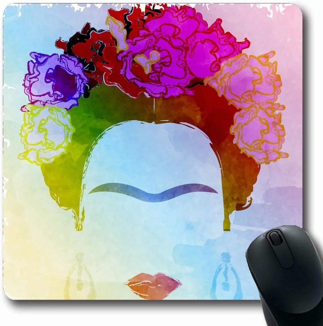 Mousepad Mousemat Makeup Abstract 26 de febrero Representación gráfica Atractiva Frida Adulto Diseño artístico Forma Antideslizante Gaming Mouse Pad 25X30CM