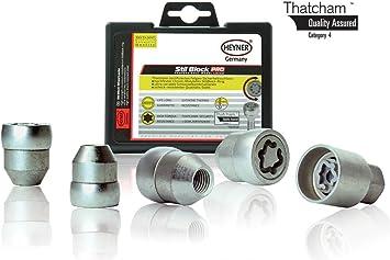 Amica Heyner Germany Locking Wheel Nuts Set 4 Removal Key Car Security Locks Anti-theft 171//5 M12x1.5