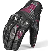 ILM Motorcycle Gloves Touchscreen Leather Hard Knuckle...