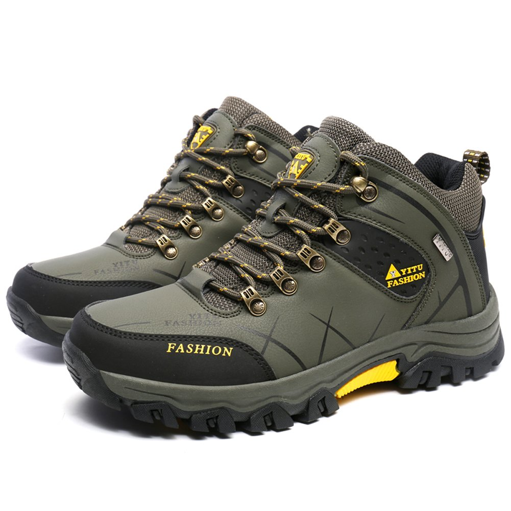 ba39f9a7fa8 Gomnear Men's Hiking Boots High Top Trekking Shoes Non Slip Outdoor ...