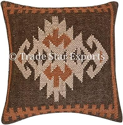 TRADE STAR EXPORTS Vintage Kilim funda de almohada, tejida a ...