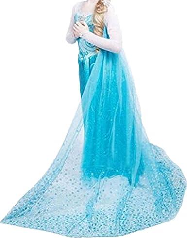 Fanessy Costume De Princesse Elsa Bleu Pour Petite Fille Robe Longue Carnaval Anniversaire Halloween Deguisement Starke Amazon Fr Vetements Et Accessoires