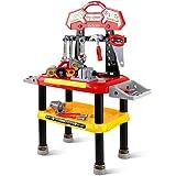 d592da7e6ada4 Keezi Kids Play Toy Tool Set with Workbench Workshop Car-Red