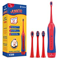 Sonic Rechargeable Kids Electric Toothbrush- 3 Modes Featured Pressure Sensor, Advanced...