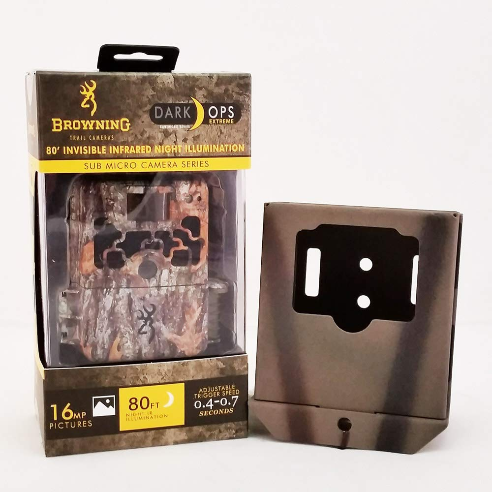 Browning Dark Ops Extreme Trail Camera with Compatible Camlockbox Security Box by Browning Trail Cameras, Camlockbox