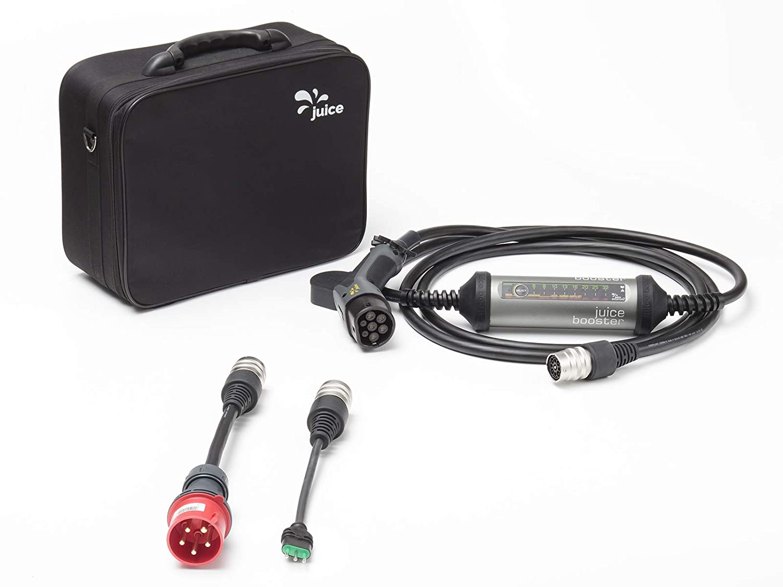 32A 3-Phasig 1-Phasig Typ 2 AC Juice Booster 2 Lade-Ger/ät f/ür EV mit Steckern IP67 German Traveller Set FI A und FI B IEC 62752