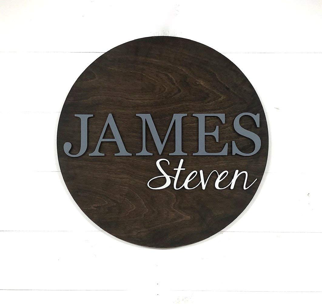 Craft Show Sign Wooden Letters Office Singage Name Plate Small Business Sign Round Wood Plate 18Inche Custom 3D Logo Sign Wooden Business Logo Sign