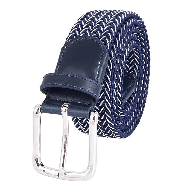 Cinturón Cinturón Táctico Hebilla Multicolor Casuales Cinturón Cinturón Elástica Elástico Pantalones es Los Hombres Hecha Banda Punto Amazon De Ropa MIJIU xXO8Czwx