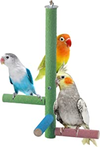 Mrli Pet Parrot Perch Rough-surfaced, Sand Perches for Parakeet and Other Small Bird Keeps Beaks & Claws Trimmed