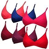 Softskin Women's Cotton Neck Full Coverage Bra - Pack of 6