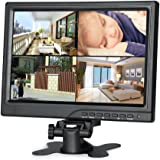 Koolertron 10.1 inch CCTV Monitor 1280 * 800 IPS LCD Monitor with HDMI/VGA/AV Port Support 1080P for DSLR/PC/CCTV Camera/DVD/Car Backup Camera/Home Office Surveillance Secure System