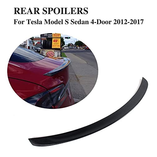 JCSPORTLINE Carbon Fiber Spoiler for Tesla Model S 2012-2017 (Gloss Black)