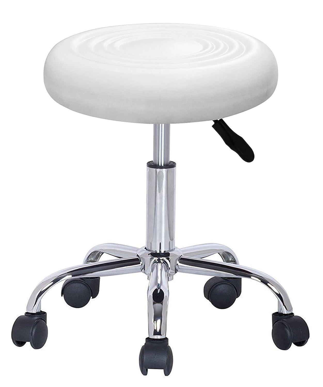 Crisnails® Rollhocker/Drehstuhl, Kosmetikhocker gepolstert, viele Farben, 360° drehbar, höhenverstellbar (TB006) 360° drehbar Crisnails S.L
