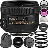 Nikon AF-S NIKKOR 50mm f/1.4G Lens Bundle with Manufacturer Accessories & Accessory Kit (14 Items) - International Version (No Warranty)