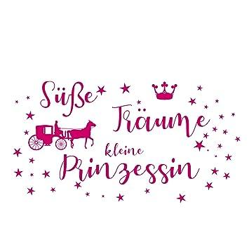 Wandtattoo Wandaufkleber Kinderzimmer ++Süße Träume kleine Prinzessin (60 x  35 cm)