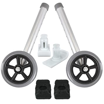 amazon com vive walker wheels and ski glides replacement feet