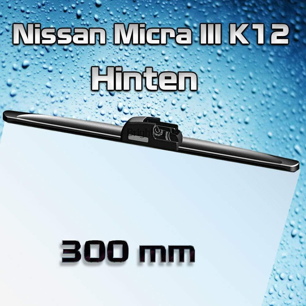 Jurmann Trade GmbH/® 300 mm 30 cm Scheibenwischer Hinten Wischblatt f/ür Frontscheibe Naturgummi Micra III K12
