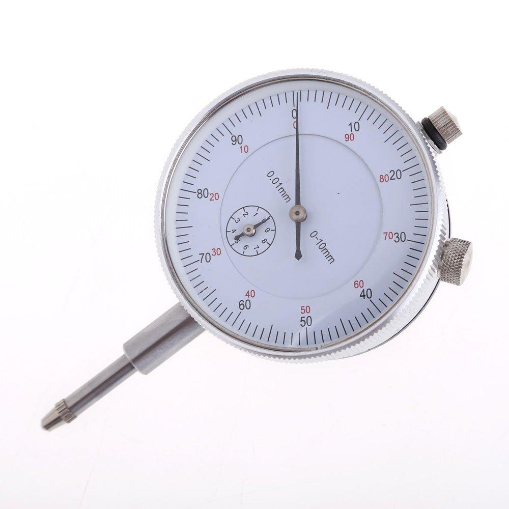 Awakingdemi Dial Indicator Gauge ,Precision Tool Reading 0-90-0 Precision 0.01 mm Accuracy Measurement Instrument Dial Indicator Gauge