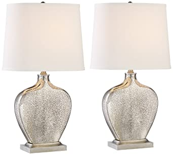 Set Of 2 Axel Mercury Glass Table Lamps