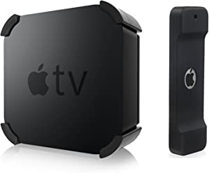 iDLEHANDS Apple TV Mount - GET 1 Remote CASE for Free, Apple TV Wall Mount Bracket Holder Compatible with Apple TV 4K 5th Generation/Apple TV 4th Generation